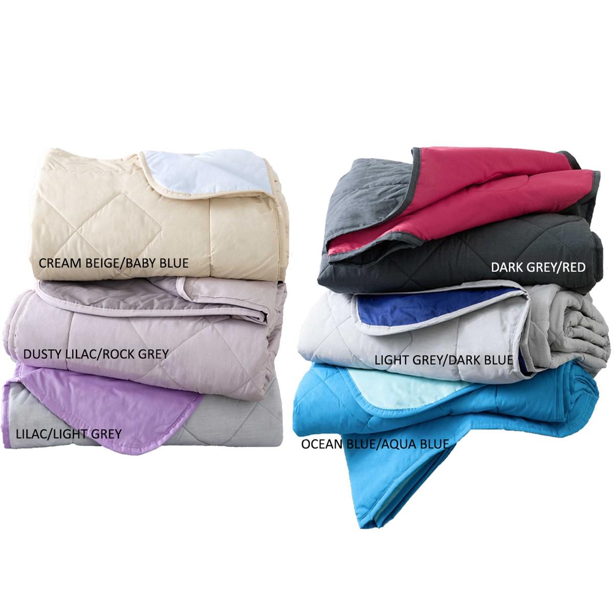 Κουβερλί Υπέρδιπλο Διπλής Όψης Nima Layers Colors