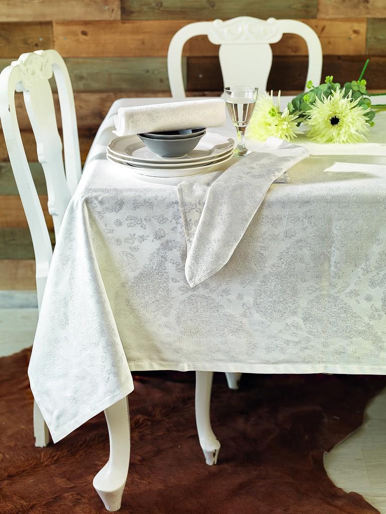 Πετσέτες Φαγητού (Σετ 4τμχ) Palamaiki Festozi Ethnic White