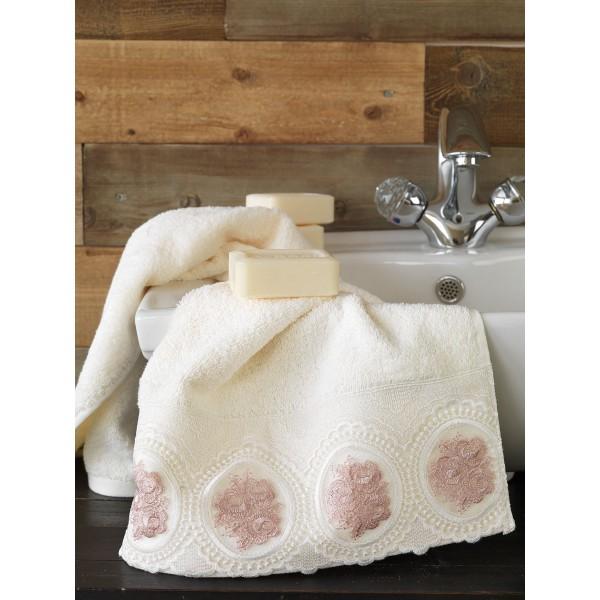 Πετσέτες Μπάνιου (Σετ 3τμχ) Palamaiki Petek Ivory