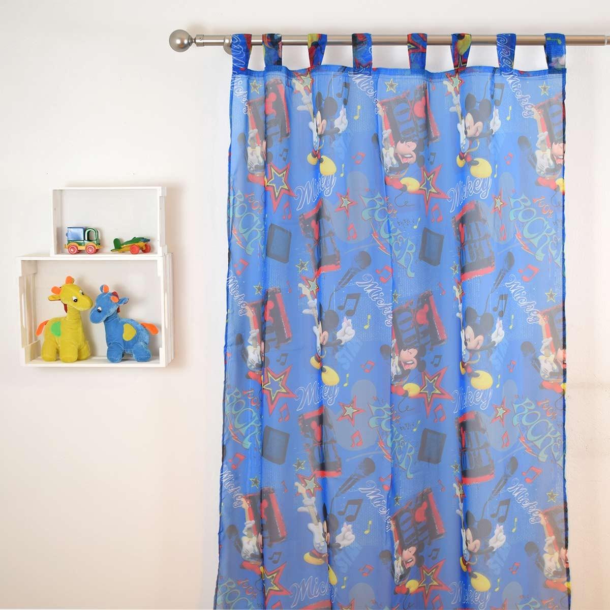 Παιδική Κουρτίνα (140×290) Disney Mickey Rock CH012 Blue