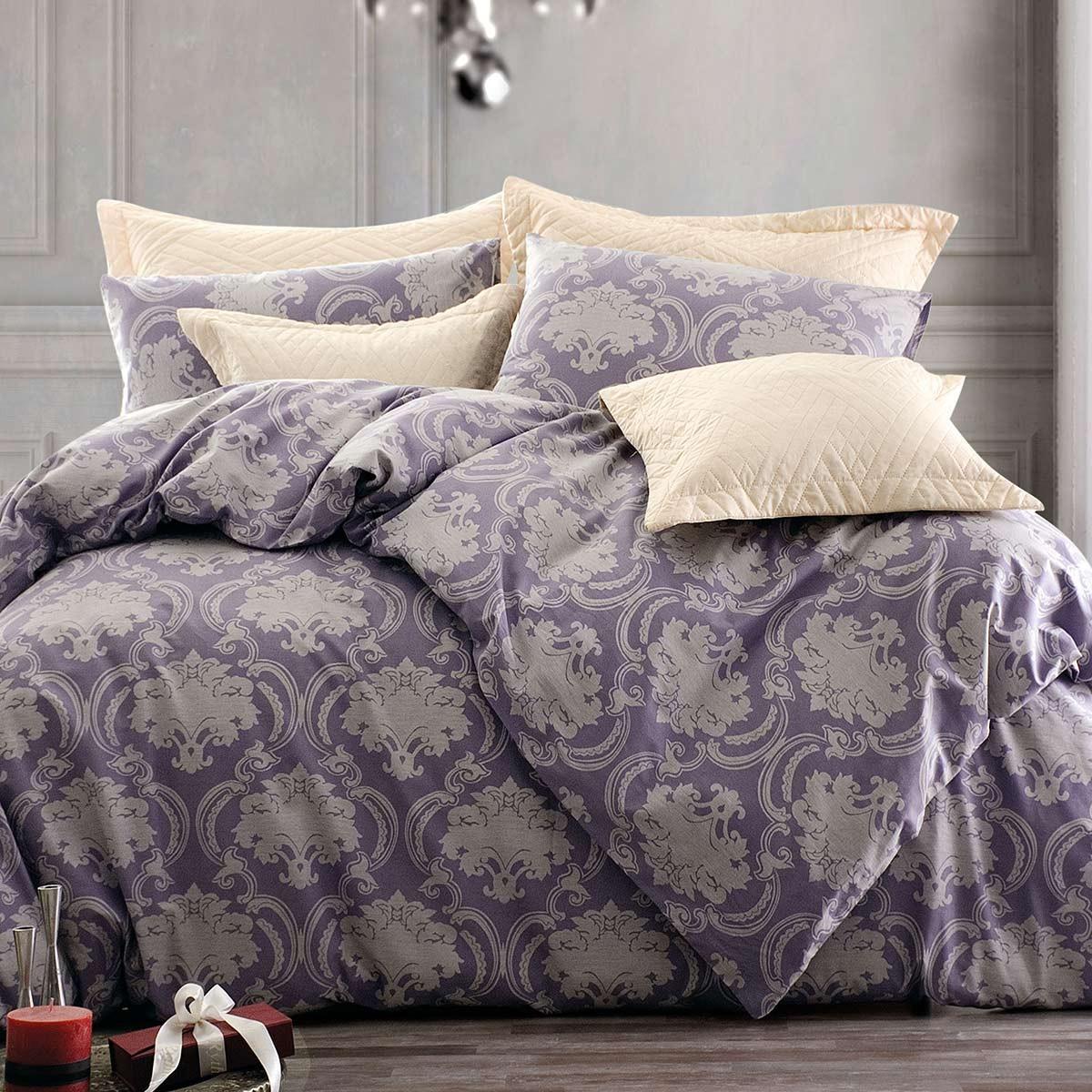 Σεντόνια Υπέρδιπλα (Σετ) Rythmos Symbol Abolina Purple ΧΩΡΙΣ ΛΑΣΤΙΧΟ ΧΩΡΙΣ ΛΑΣΤΙΧΟ