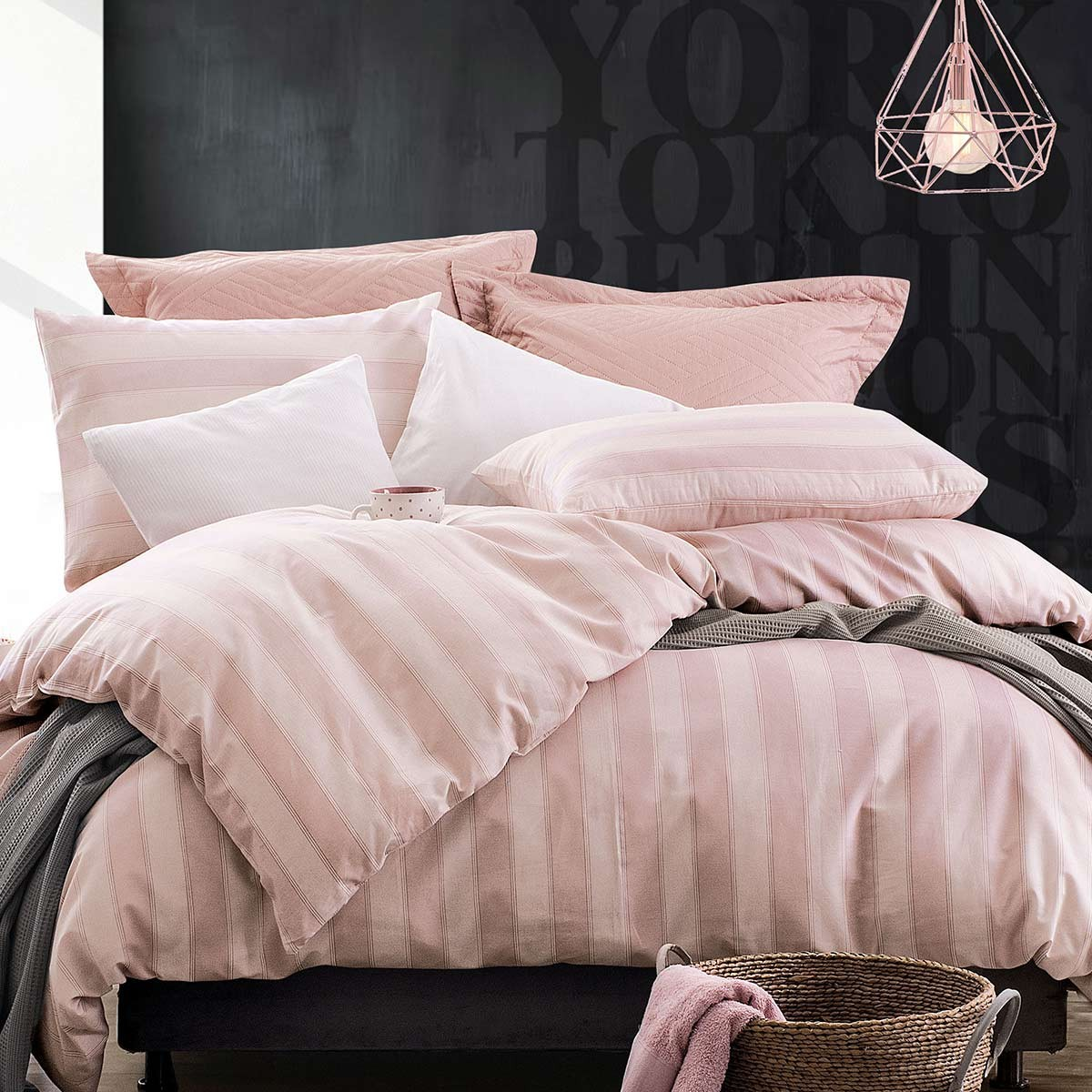 Πάπλωμα Μονό (Σετ) Rythmos Diva Locust Pink