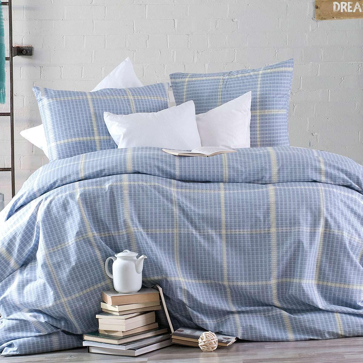 Παπλωματοθήκη Υπέρδιπλη (Σετ) Rythmos Nova Flanagan Blue