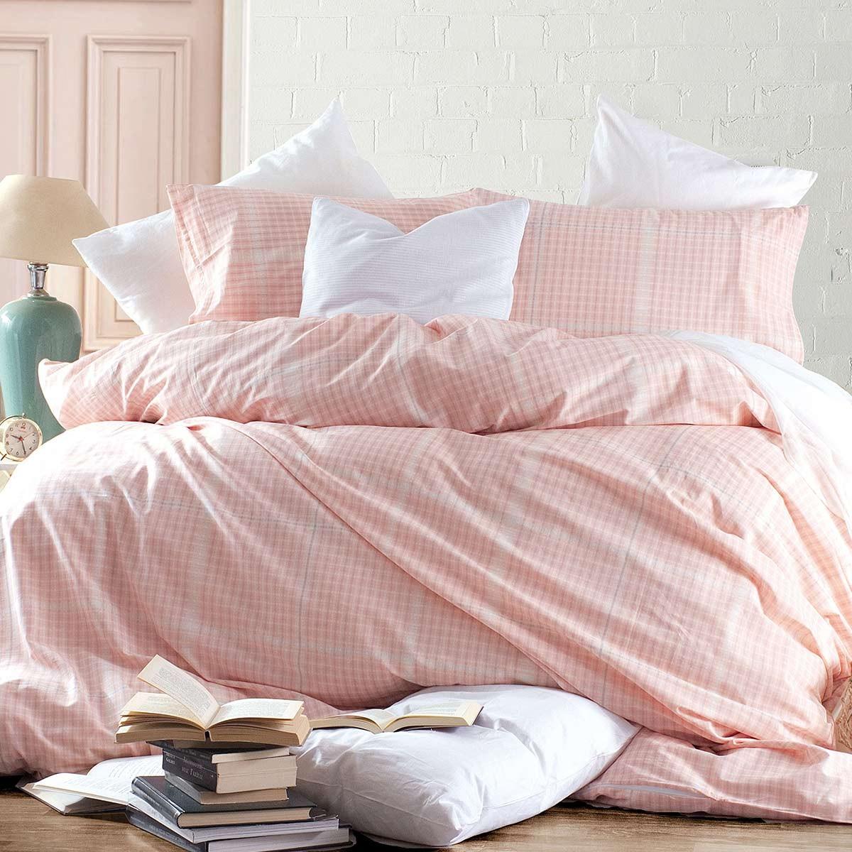 Παπλωματοθήκη Μονή (Σετ) Rythmos Nova Flanagan Pink home   κρεβατοκάμαρα   παπλωματοθήκες   παπλωματοθήκες μονές