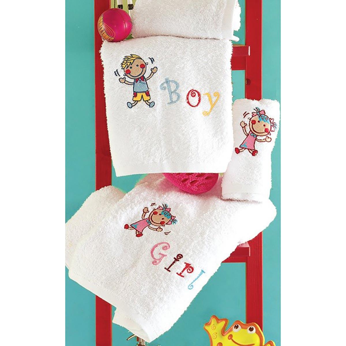 Παιδικές Πετσέτες (Σετ 2τμχ) Rythmos Boy&Girl