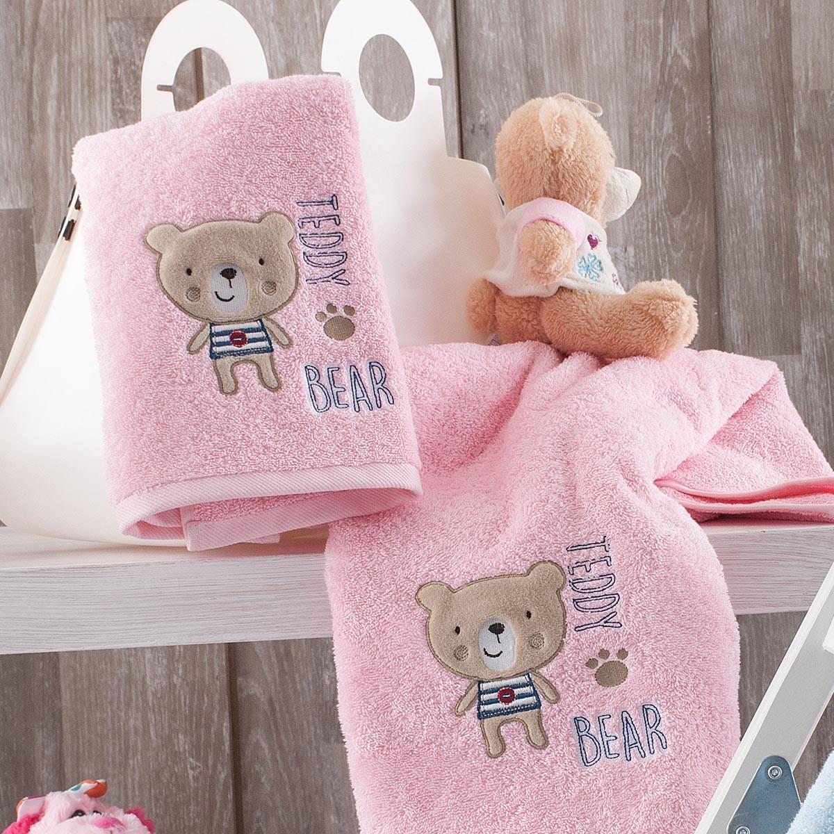 Βρεφικές Πετσέτες (Σετ 2τμχ) Rythmos Baby Pondi Pink
