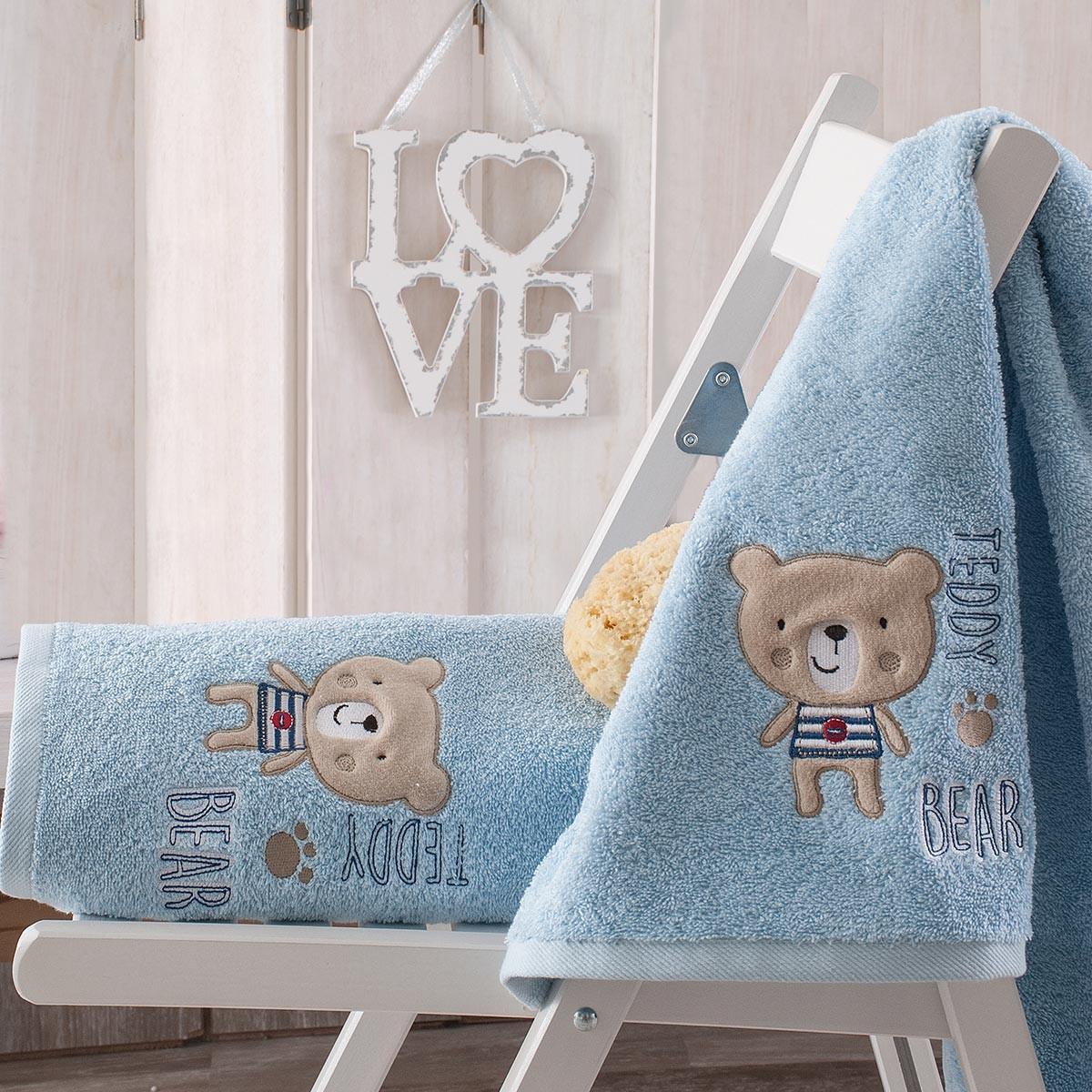 Βρεφικές Πετσέτες (Σετ 2τμχ) Rythmos Baby Pondi Ciel