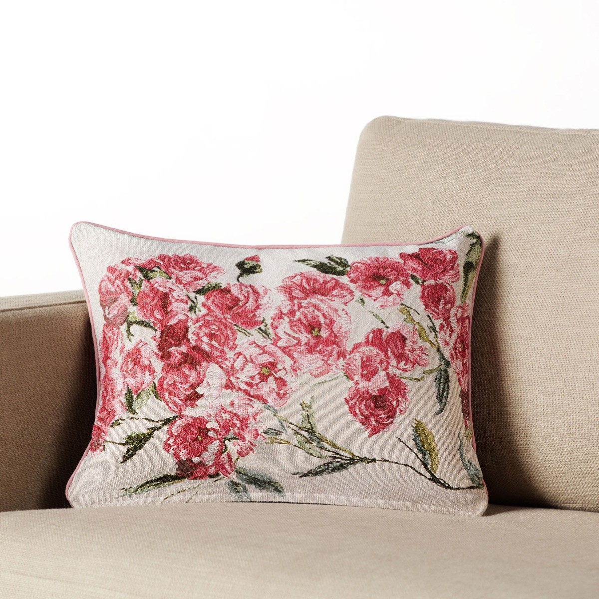 Διακοσμητική Μαξιλαροθήκη (33×45) Gofis Home Camellia 356B