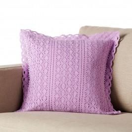 Διακοσμητική Μαξιλαροθήκη Gofis Home Crochet Purple 019/20