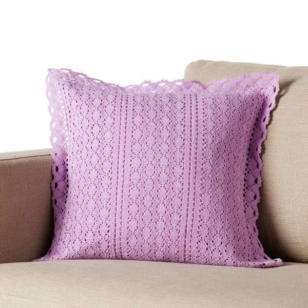 Διακοσμητική Μαξιλαροθήκη (43x43) Gofis Home Crochet Purple 019/