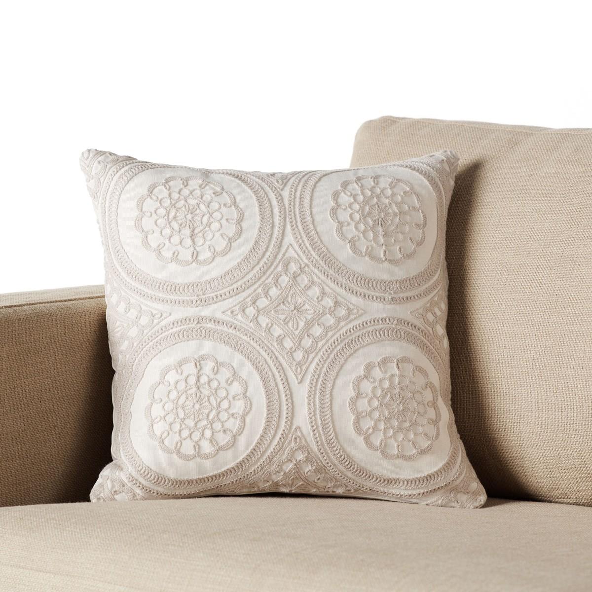 Διακοσμητική Μαξιλαροθήκη Gofis Home Mandala Silver 297/15