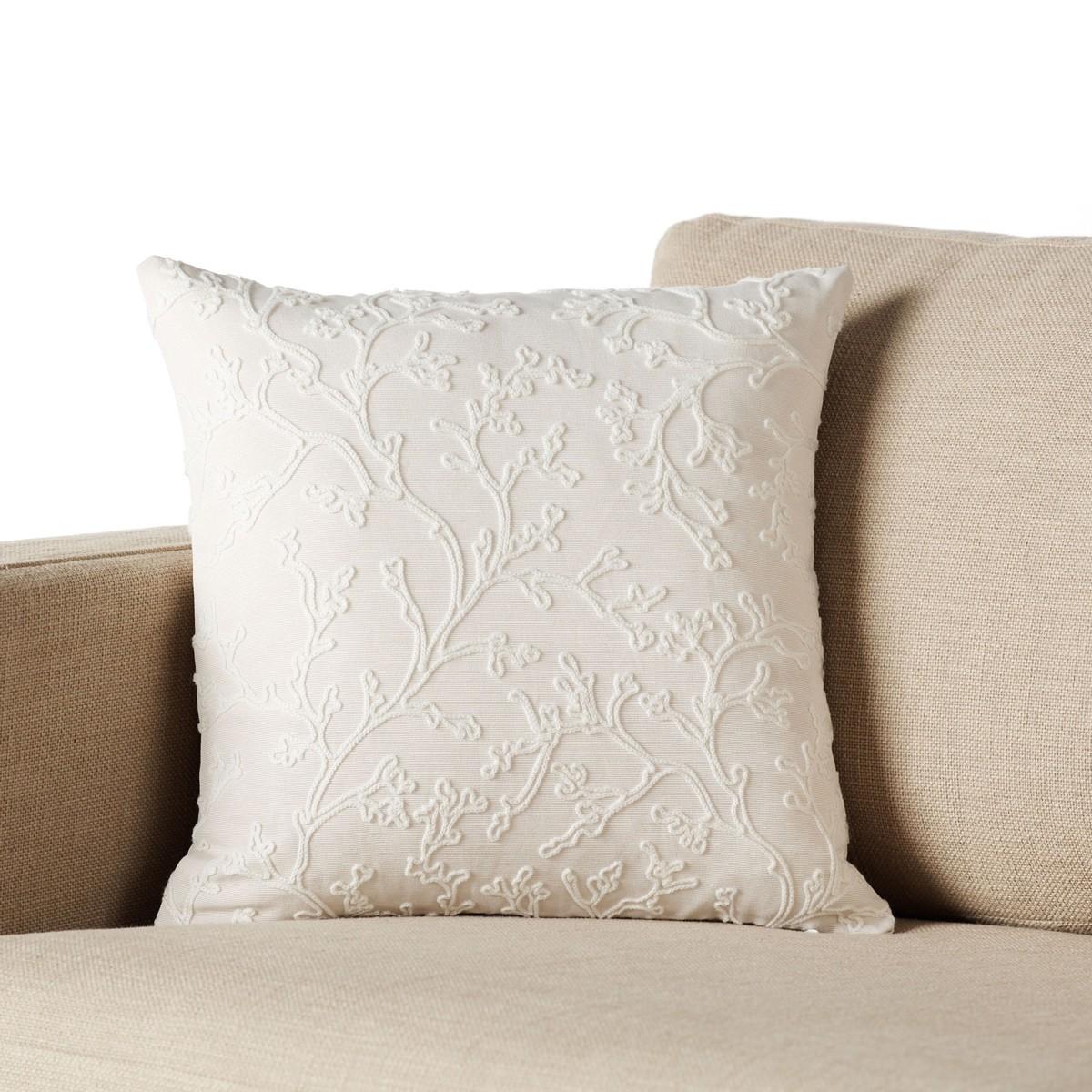 Διακοσμητική Μαξιλαροθήκη Gofis Home Gorgonian Ecru 274/05