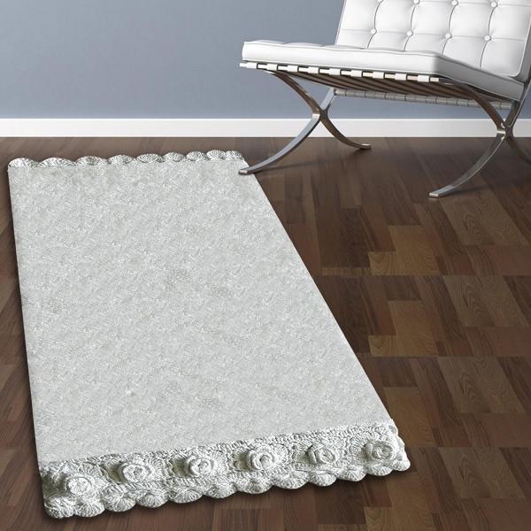 Πατάκι Μπάνιου (50x80) San Lorentzo 270 Lace White