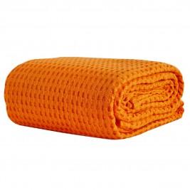 Κουβέρτα Πικέ Μονή White Egg ΚΠ10Δ Πορτοκαλί