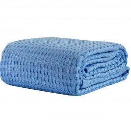Κουβέρτα Πικέ Μονή White Egg ΚΠ10Η Μπλε