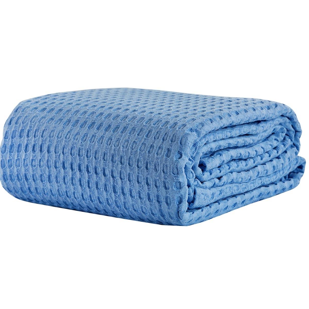 Κουβέρτα Πικέ Υπέρδιπλη White Egg ΚΠ10Η Μπλε 69545
