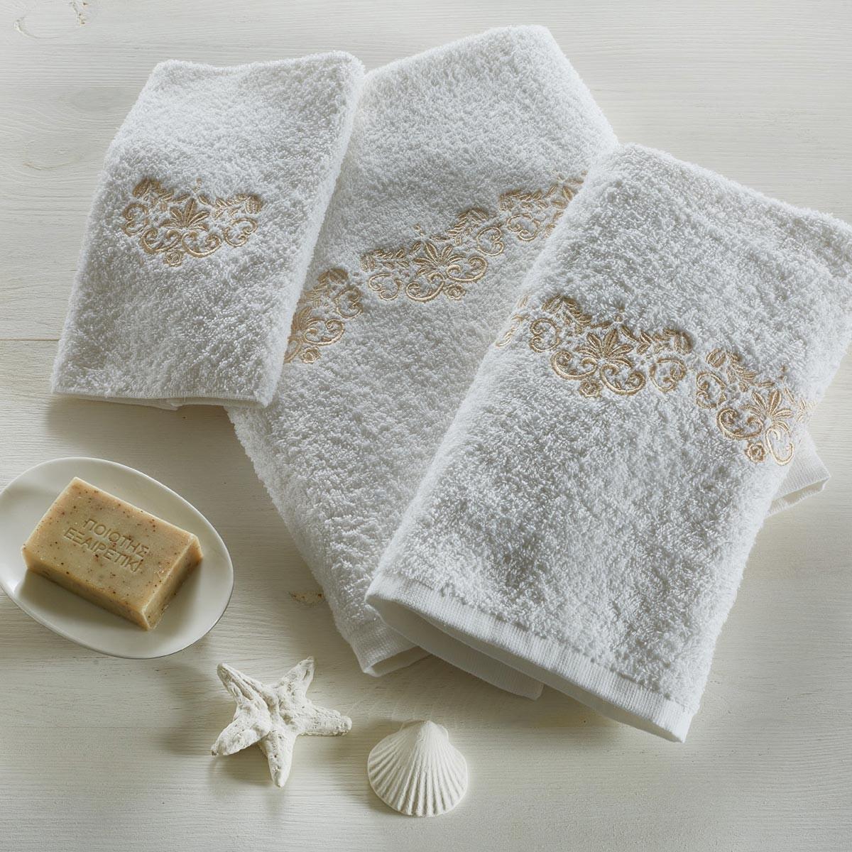 Πετσέτες Μπάνιου (Σετ 3τμχ) White Egg Δέσποινα