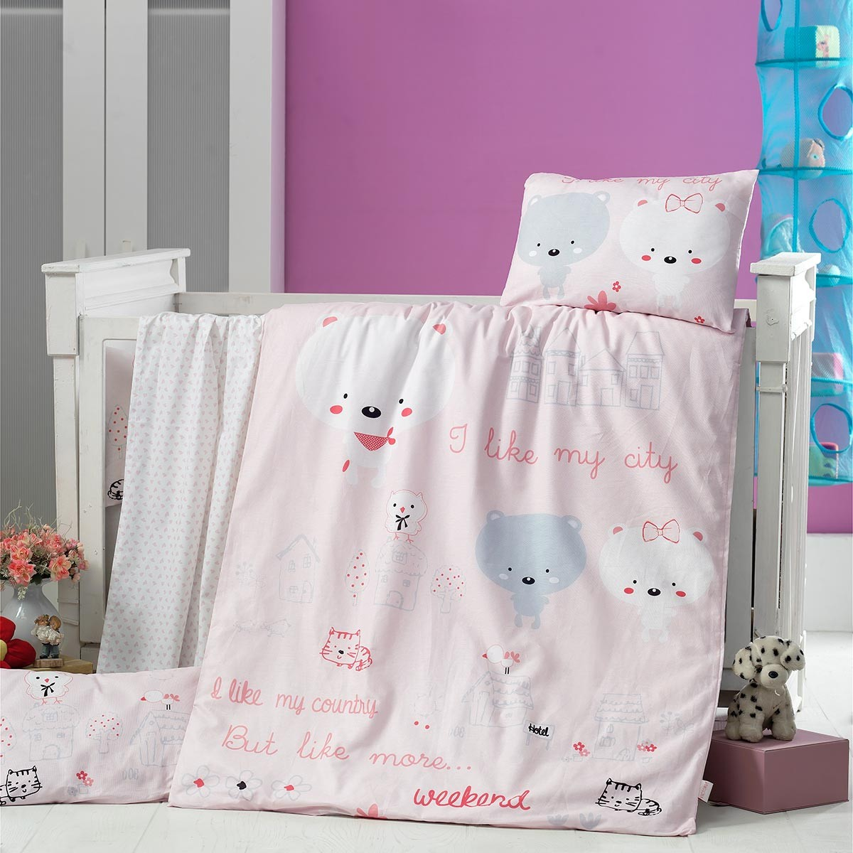 Σεντόνια Κούνιας (Σετ) Ravelia Baby Dream House