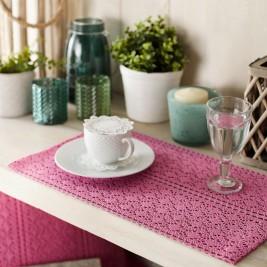 Σουπλά (Σετ 2τμχ) Gofis Home Crochet Pink 019/17