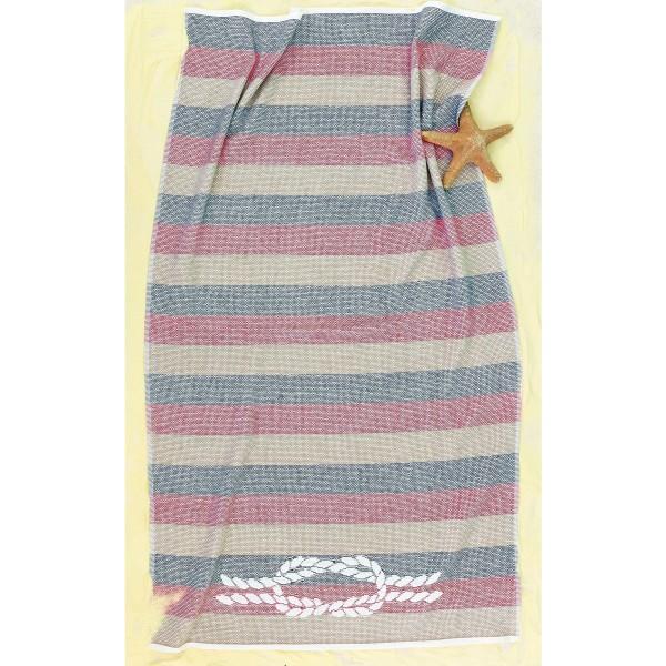 Πετσέτα Θαλάσσης Palamaiki Rope Red/Blue