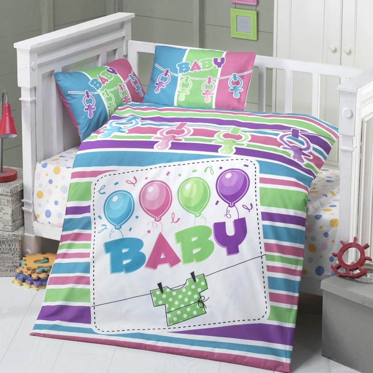 Σεντόνια Κούνιας (Σετ) Palamaiki Happy Baby HB0516
