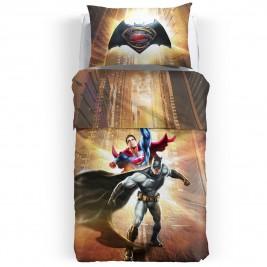 Σεντόνια Μονά (Σετ 2τμχ) Palamaiki Batman & Superman