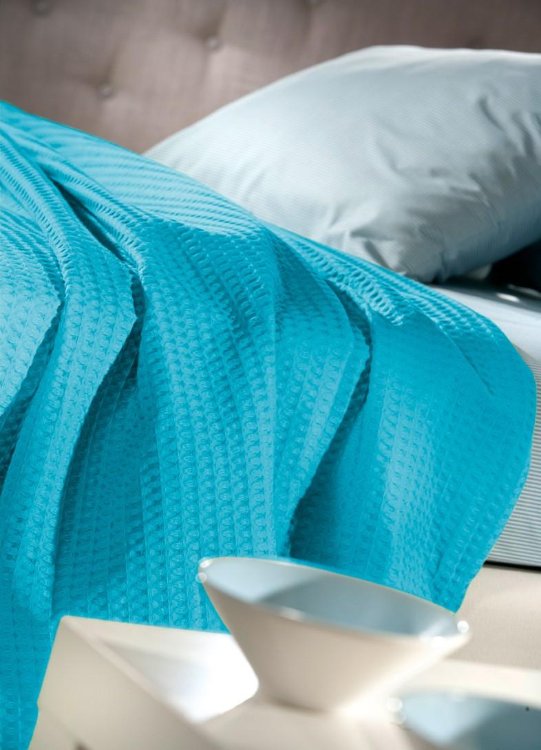 Κουβέρτα Πικέ Υπέρδιπλη Guy Laroche Studio Turquoise