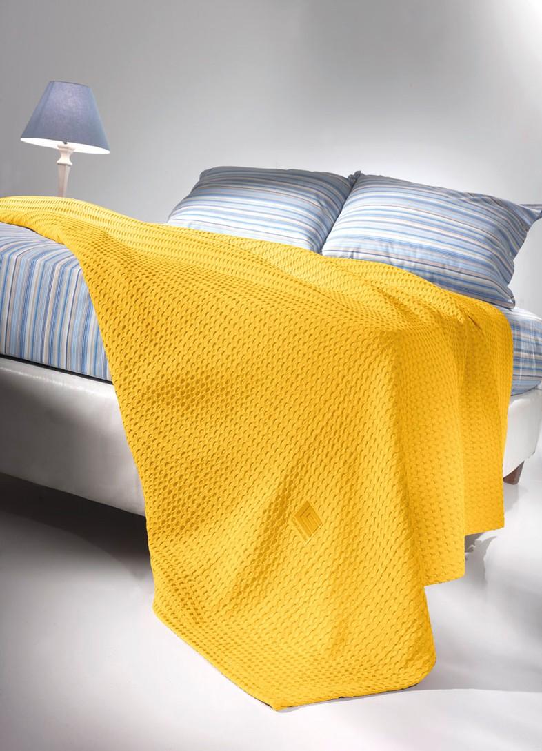 Κουβέρτα Πικέ Υπέρδιπλη Guy Laroche Crystal Yellow