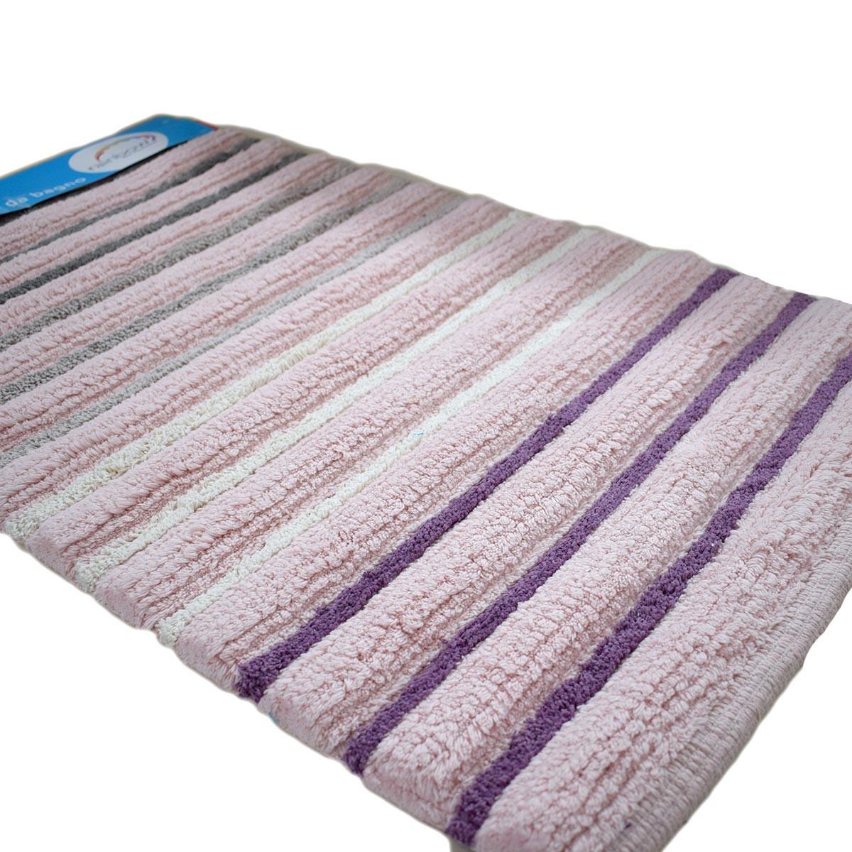 Πατάκι Μπάνιου (50x80) Dimitracas Softstripe 05583 Ροζ