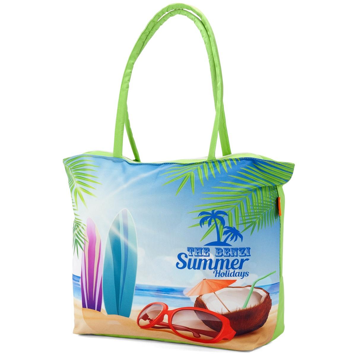 Τσάντα Παραλίας Benzi 5000 Green home   θαλάσσης   τσάντες παραλίας