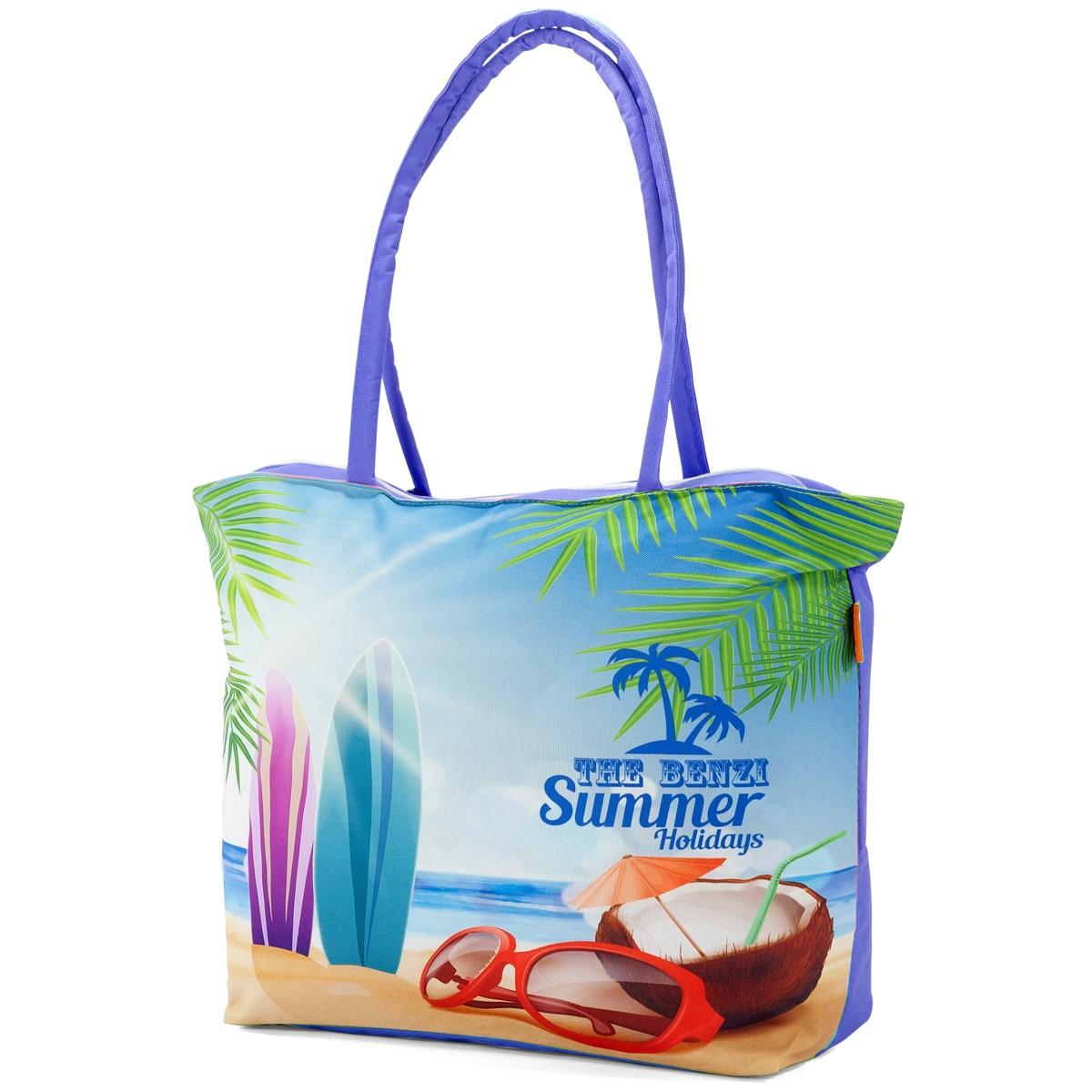 Τσάντα Παραλίας Benzi 5000 Purple home   θαλάσσης   τσάντες παραλίας