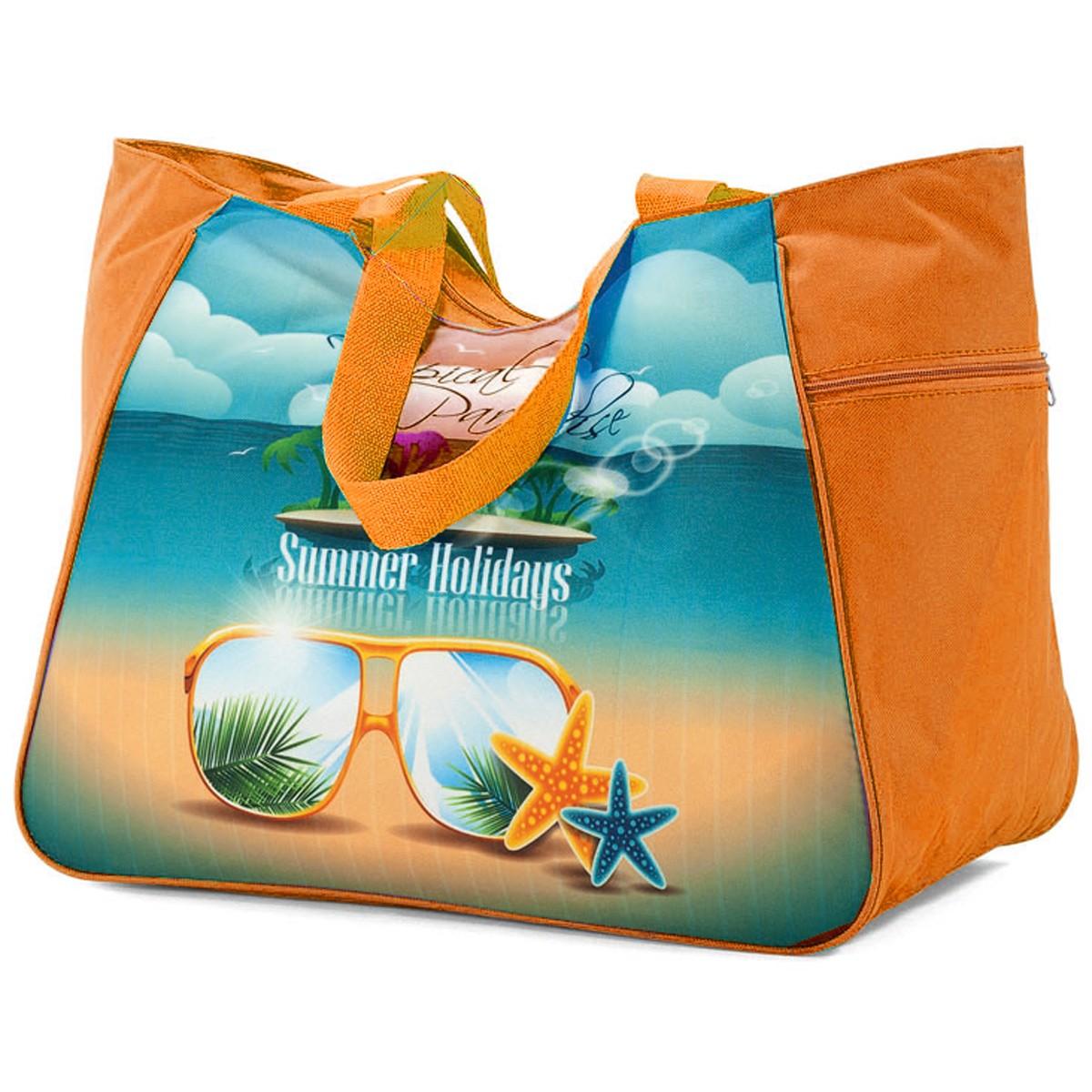 Τσάντα Παραλίας Benzi 4862 Orange home   θαλάσσης   τσάντες παραλίας