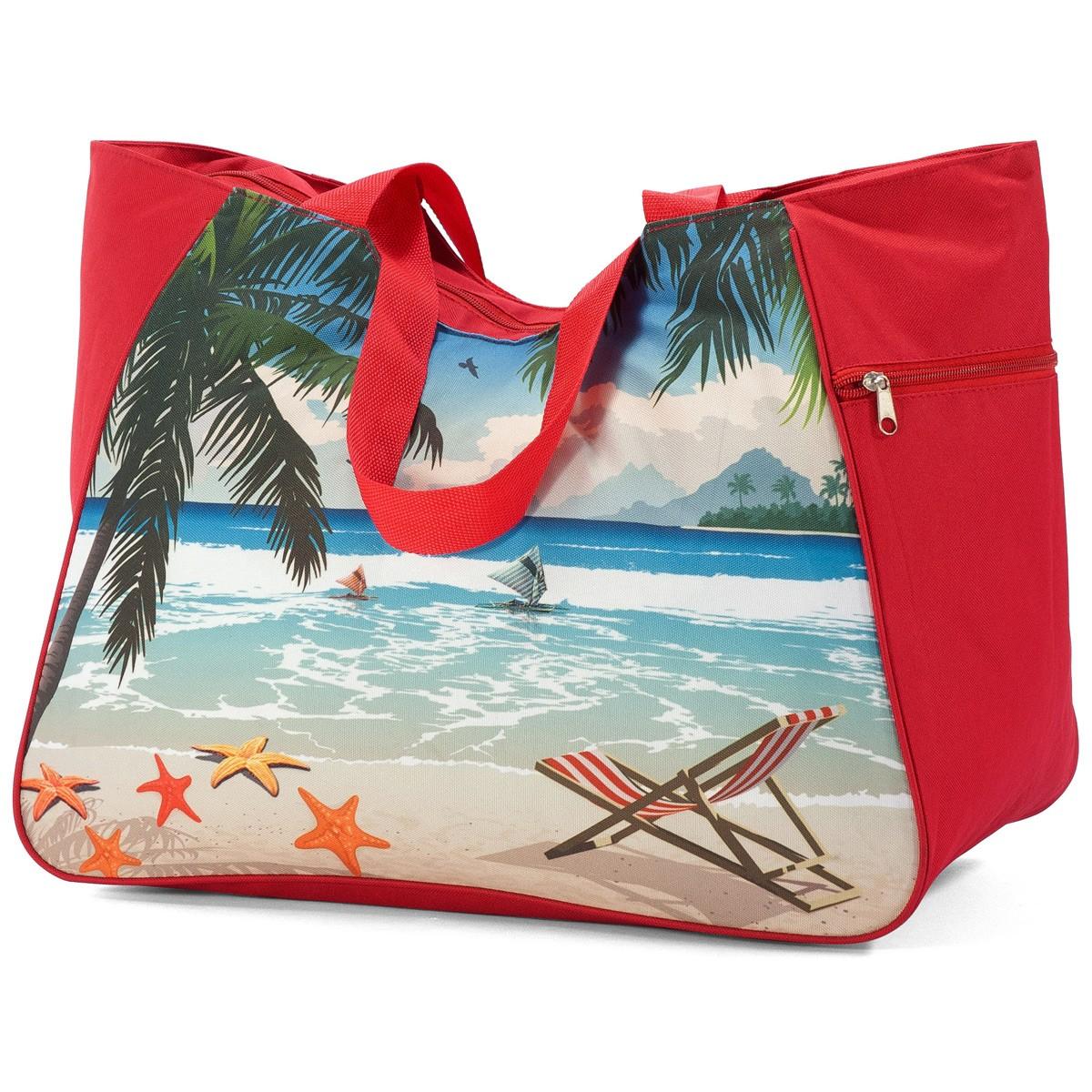 Τσάντα Παραλίας Benzi 5001 Red home   θαλάσσης   τσάντες παραλίας