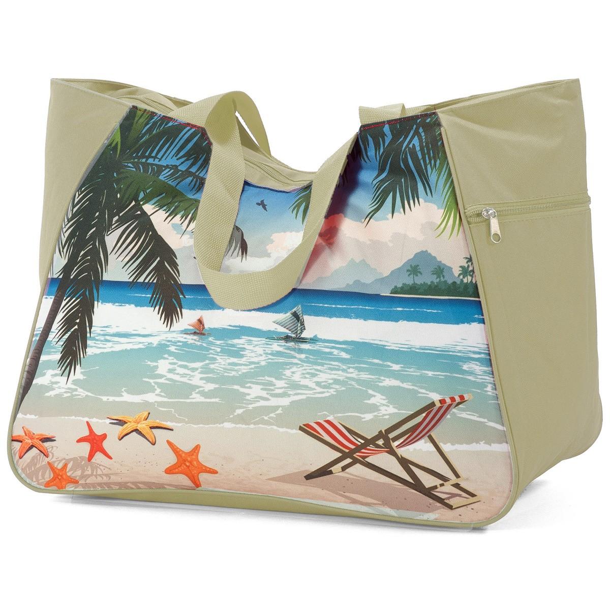 Τσάντα Παραλίας Benzi 5001 Beige home   θαλάσσης   τσάντες παραλίας