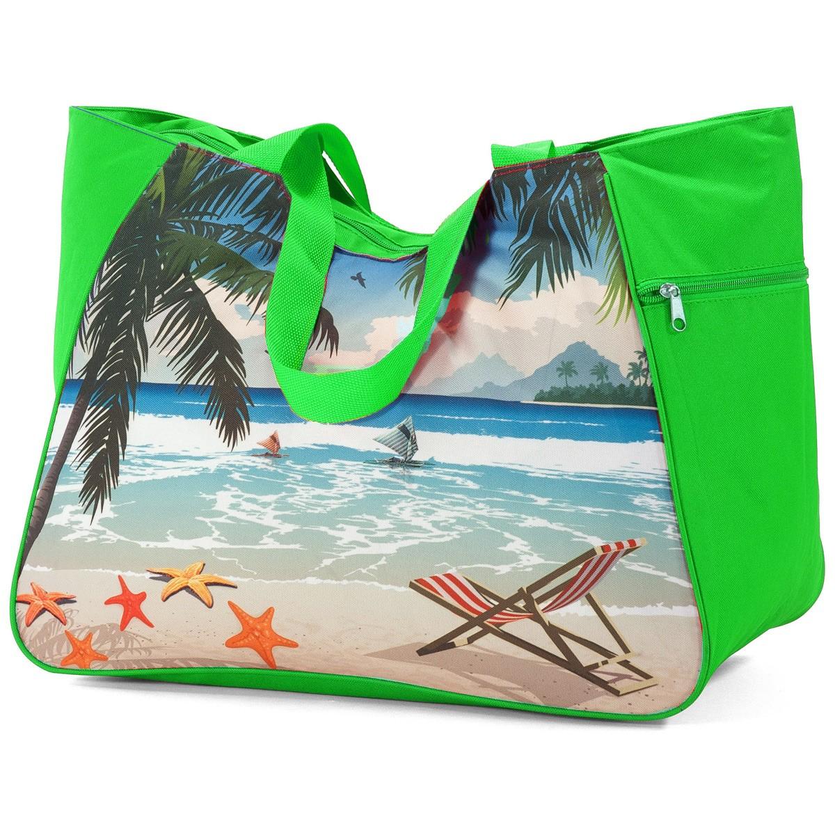 Τσάντα Παραλίας Benzi 5001 Green home   θαλάσσης   τσάντες παραλίας