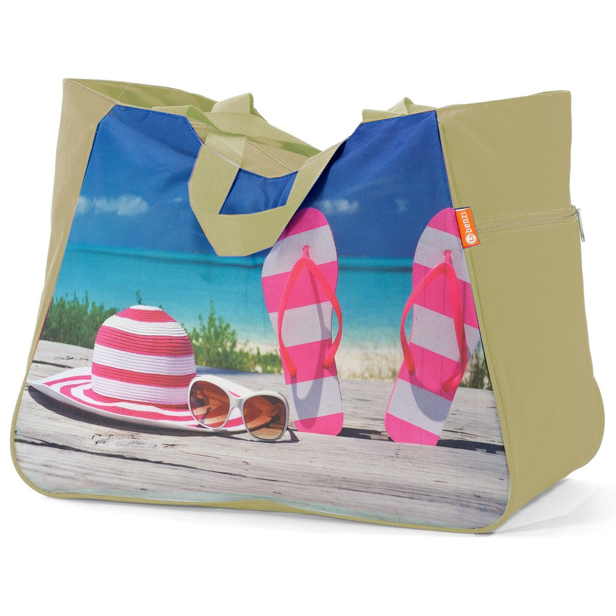 Τσάντα Παραλίας Benzi 5002 Beige home   θαλάσσης   τσάντες παραλίας