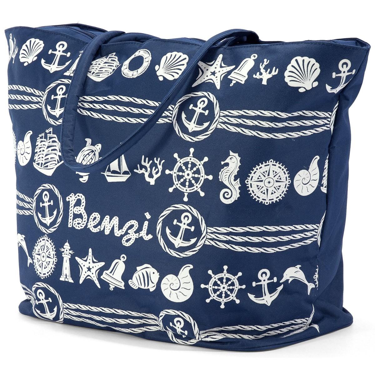 Τσάντα Παραλίας Benzi 4998 Blue home   θαλάσσης   τσάντες παραλίας
