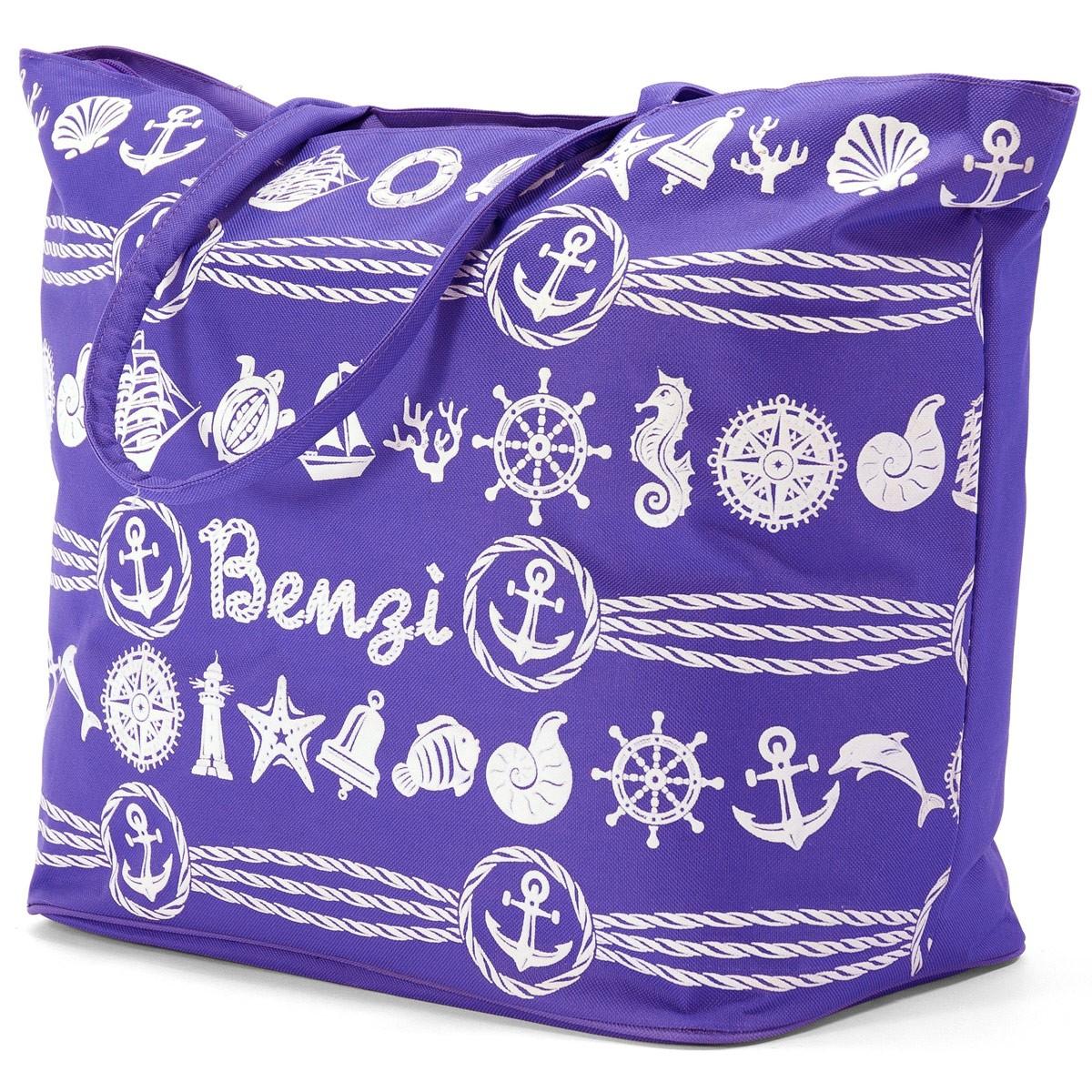 Τσάντα Παραλίας Benzi 4998 Purple home   θαλάσσης   τσάντες παραλίας