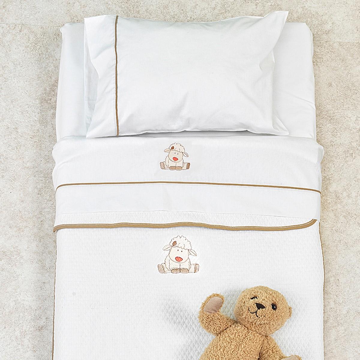 Κουβέρτα Πικέ Κούνιας Palamaiki Baby Joia 863