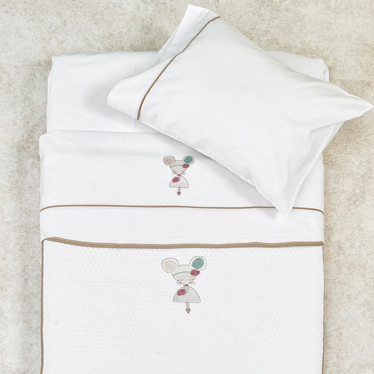 Κουβέρτα Πικέ Κούνιας Palamaiki Baby Joia 861 home   βρεφικά   κουβέρτες βρεφικές   κουβέρτες καλοκαιρινές