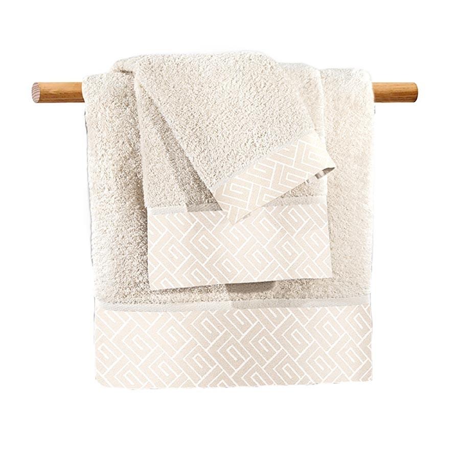 Πετσέτες Μπάνιου (Σετ 3τμχ) Guy Laroche Famous Ivory