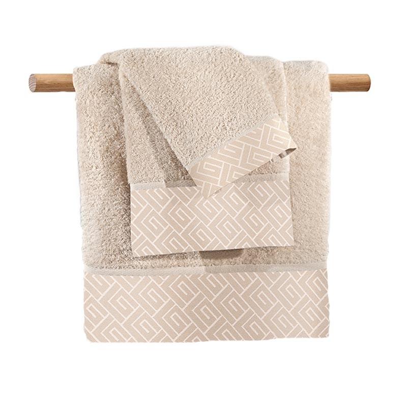 Πετσέτα Προσώπου (50x100) Guy Laroche Famous Beige