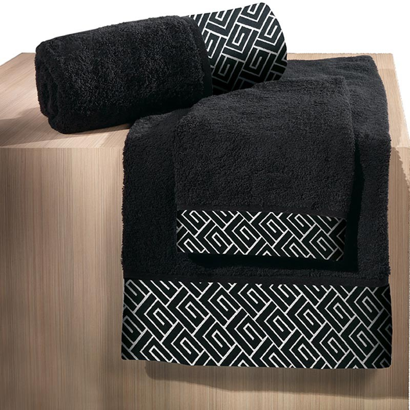Πετσέτα Προσώπου (50x100) Guy Laroche Famous Black home   μπάνιο   πετσέτες μπάνιου