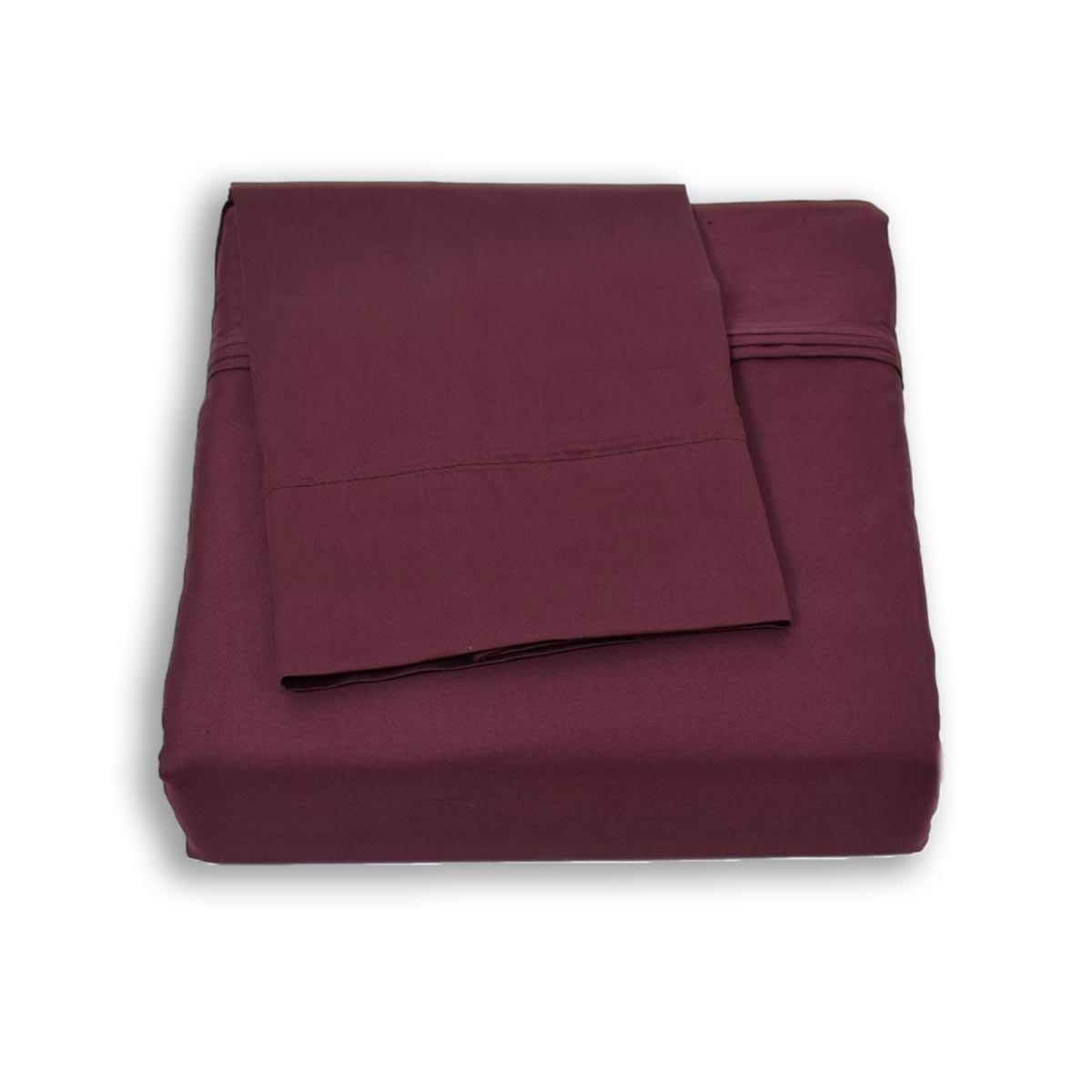 Σεντόνια Υπέρδιπλα (Σετ) BW Satin Cotton Purple