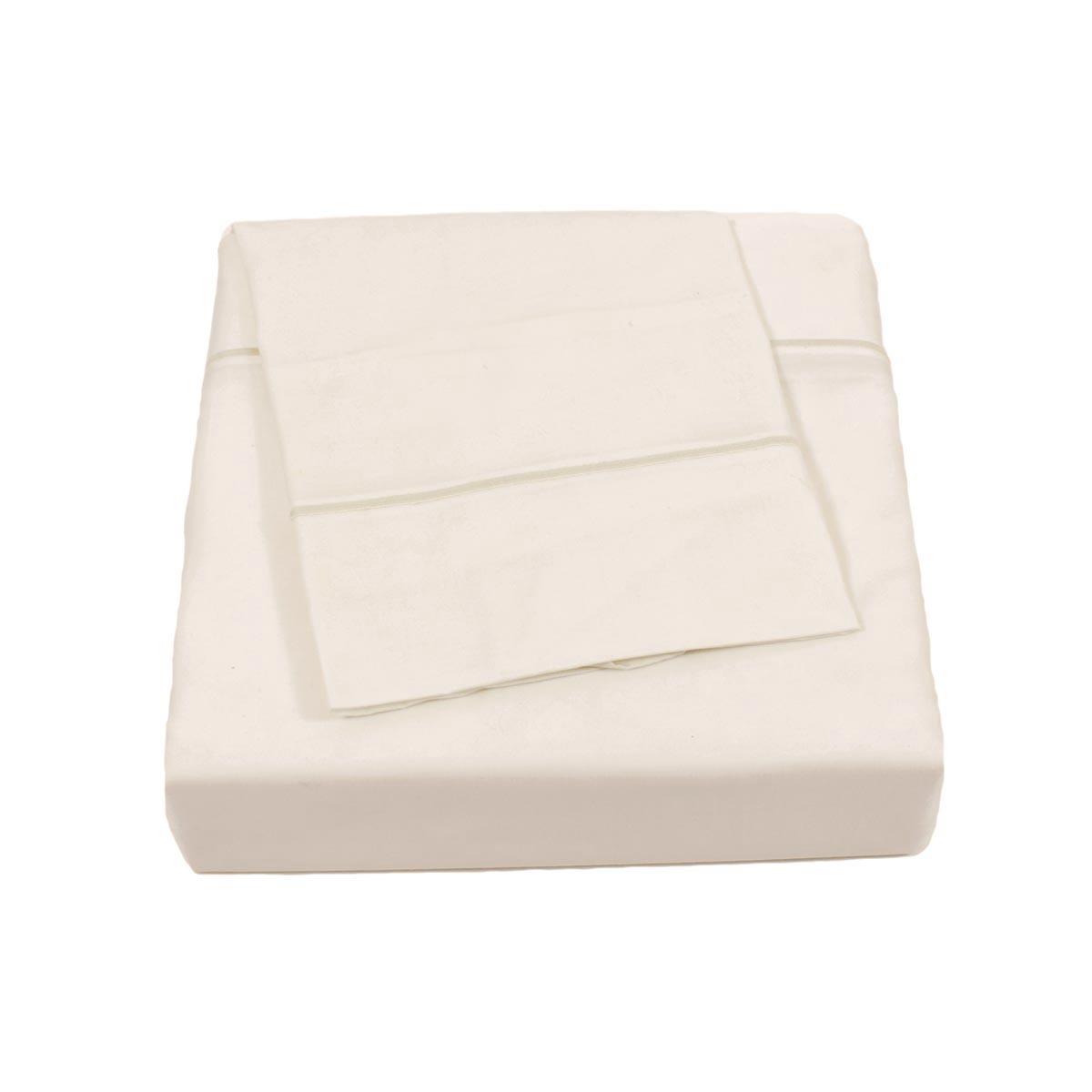 Σεντόνια Υπέρδιπλα (Σετ) BW Satin Cotton Cream
