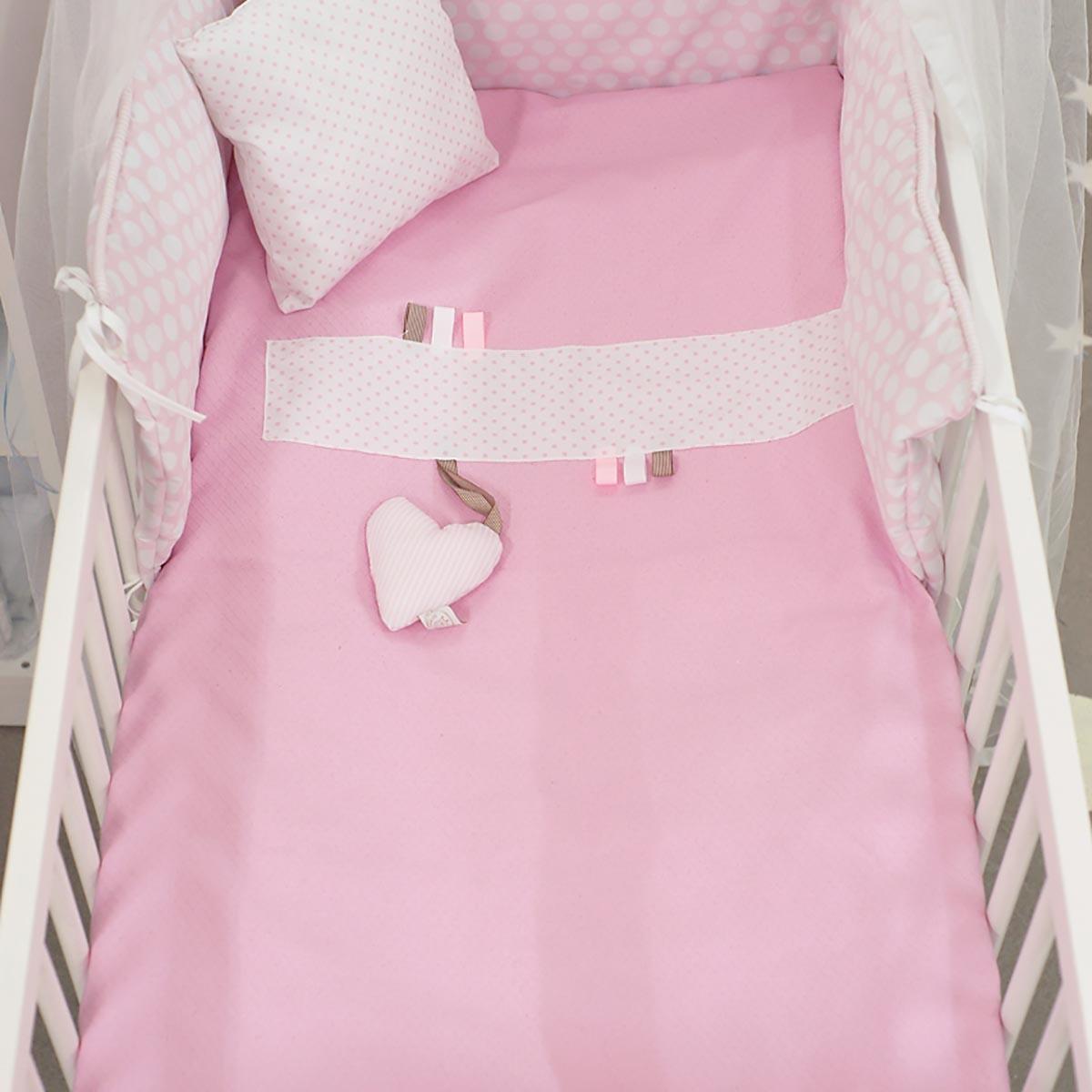 Κουβέρτα Πικέ Κούνιας Ninna Nanna Ροζ Πουά home   βρεφικά   κουβέρτες βρεφικές   κουβέρτες καλοκαιρινές