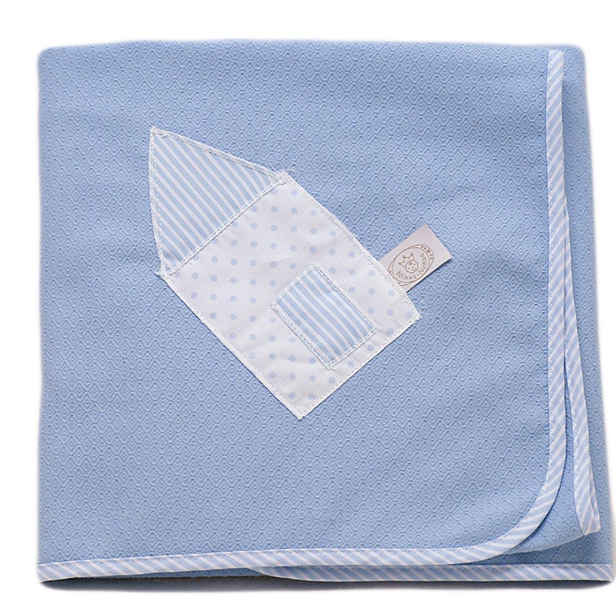 Κουβέρτα Πικέ Αγκαλιάς Ninna Nanna Σιέλ Πουά home   βρεφικά   κουβέρτες βρεφικές   κουβέρτες καλοκαιρινές