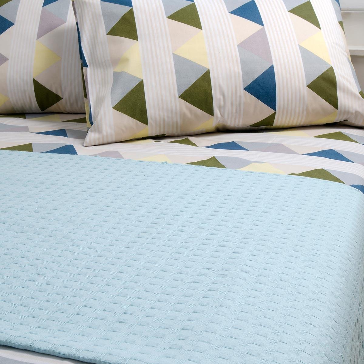 Κουβέρτα Πικέ Διπλή Melinen Aqua