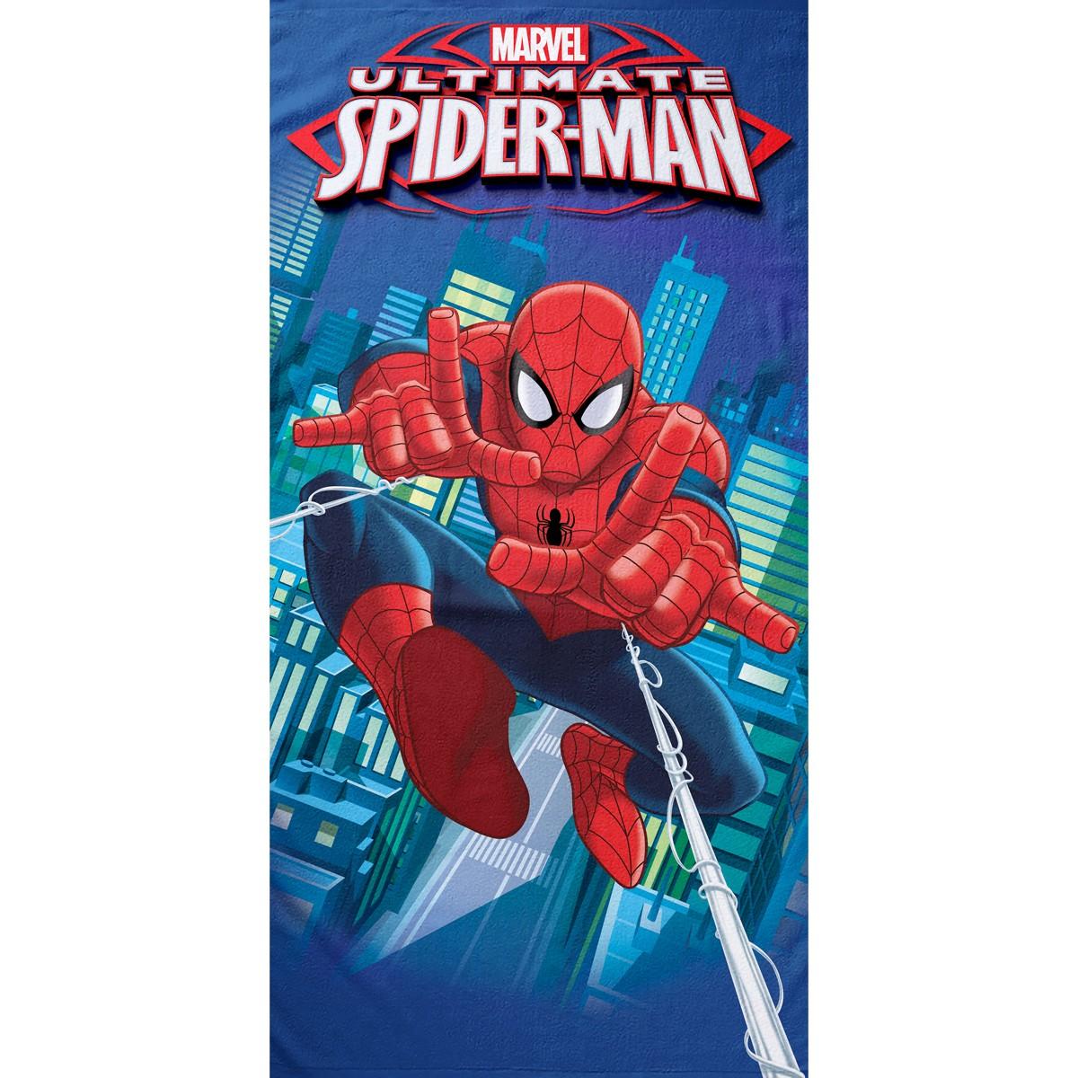 Παιδική Πετσέτα Θαλάσσης Palamaiki Spiderman City