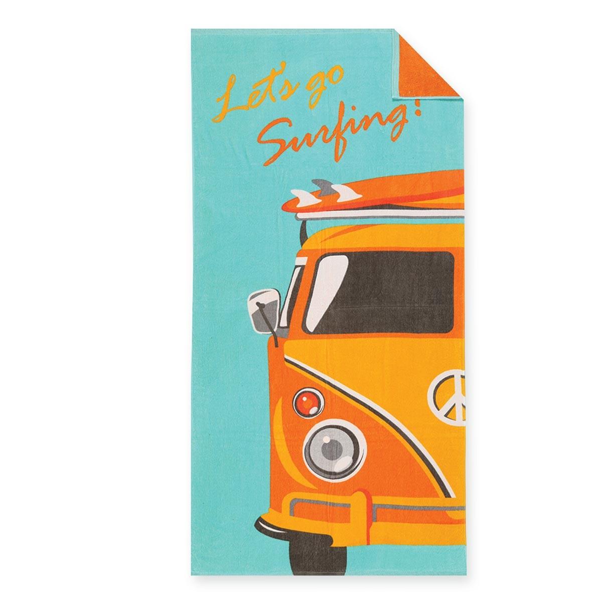 Πετσέτα Θαλάσσης Nef-Nef Printed Let's Go Surfing